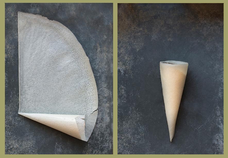 conos de pasta brik