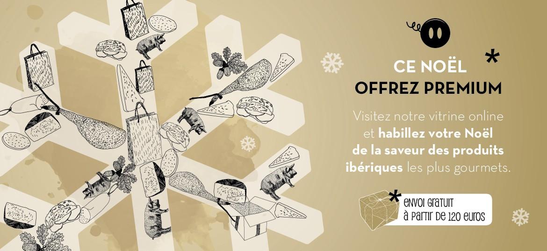 Visitez notre vitrine online et habillez votre Noël de la saveur des produits ibériques les plus gourmets.